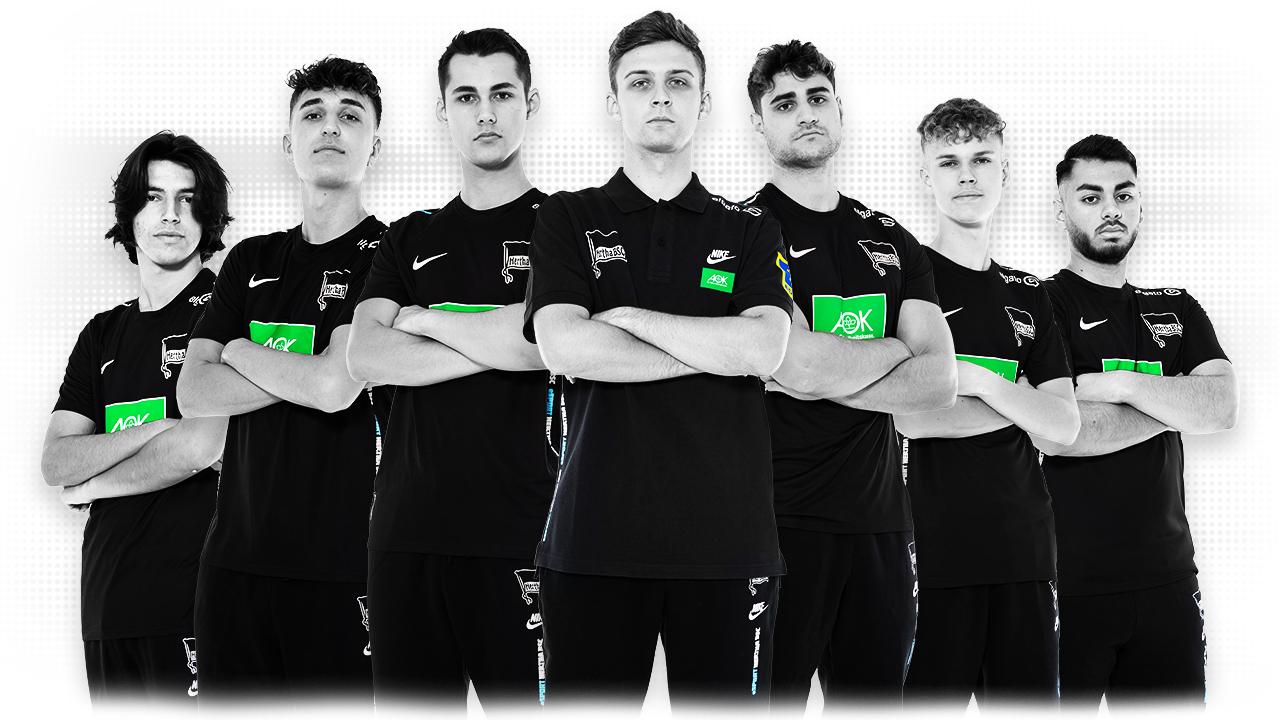 Team photo of Hertha's eSports athletes