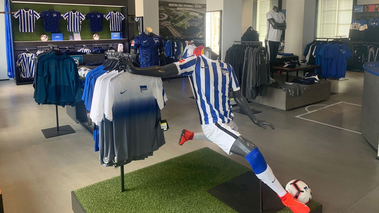The fan shop at the club office