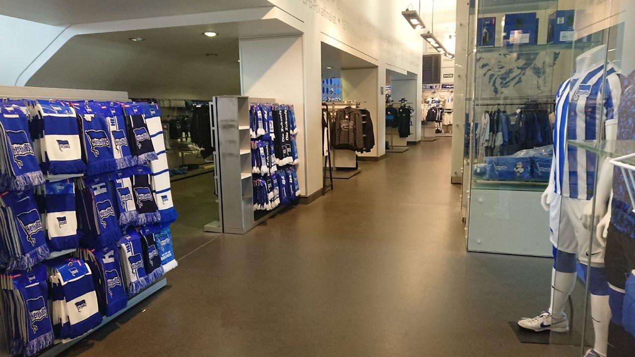 The Olympiastadion fan shop