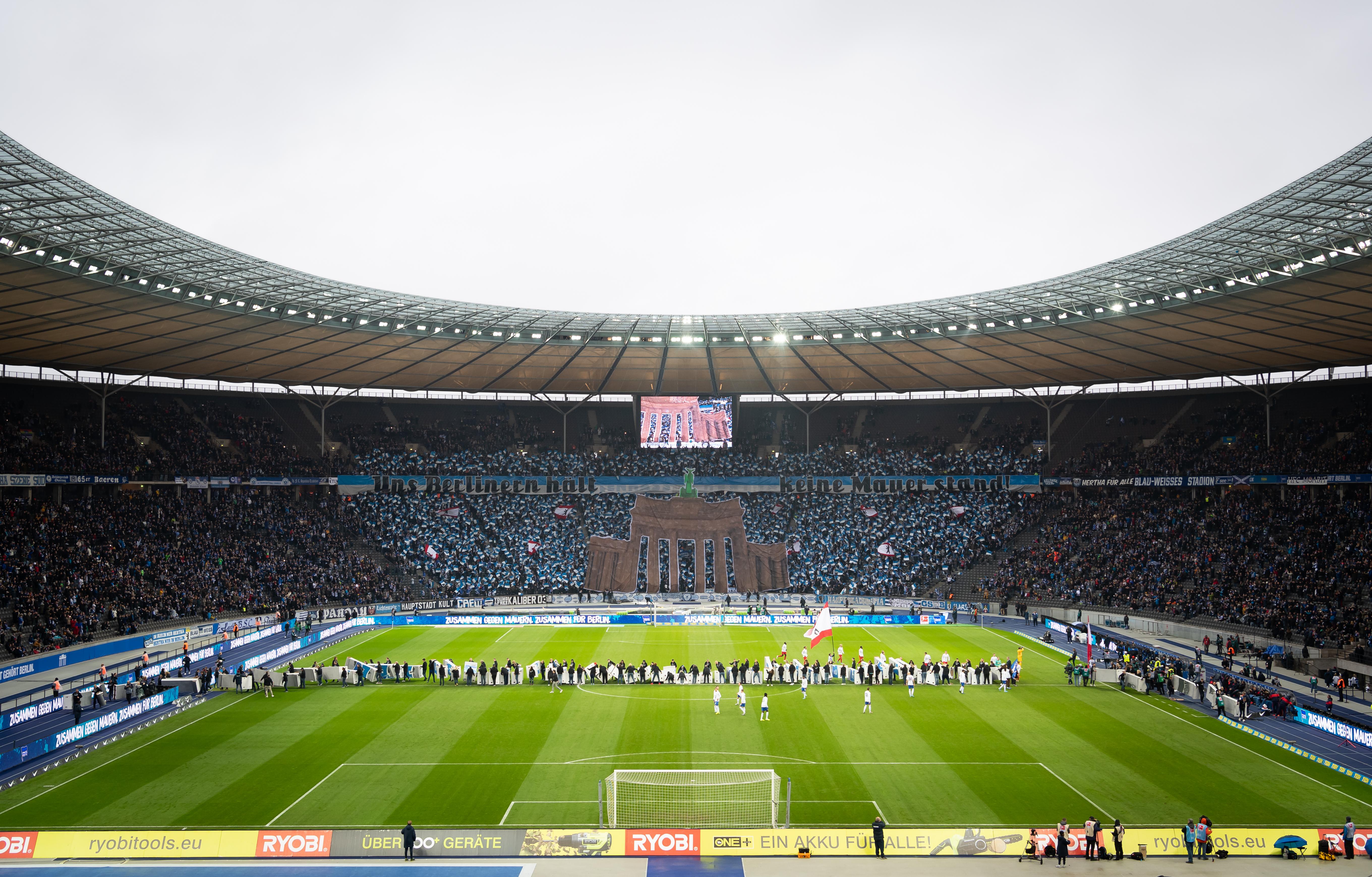 Choreografie beim Heimspiel gegen Leipzig 2019/20