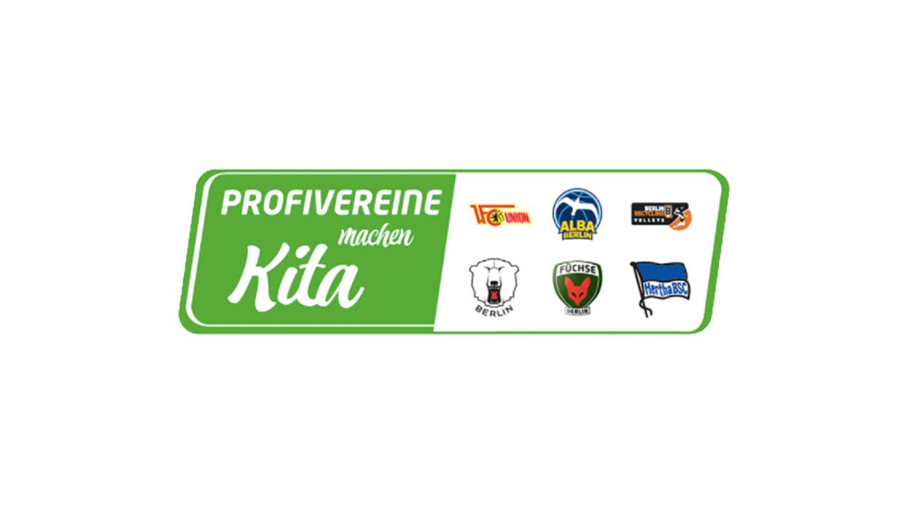 Das Logo mit der Abbildung der sechs Profivereine Hertha BSC, 1. FC Union, ALBA Berlin, Berlin Recycling Volleys, Eisbären Berlin und Füchse Berlin.