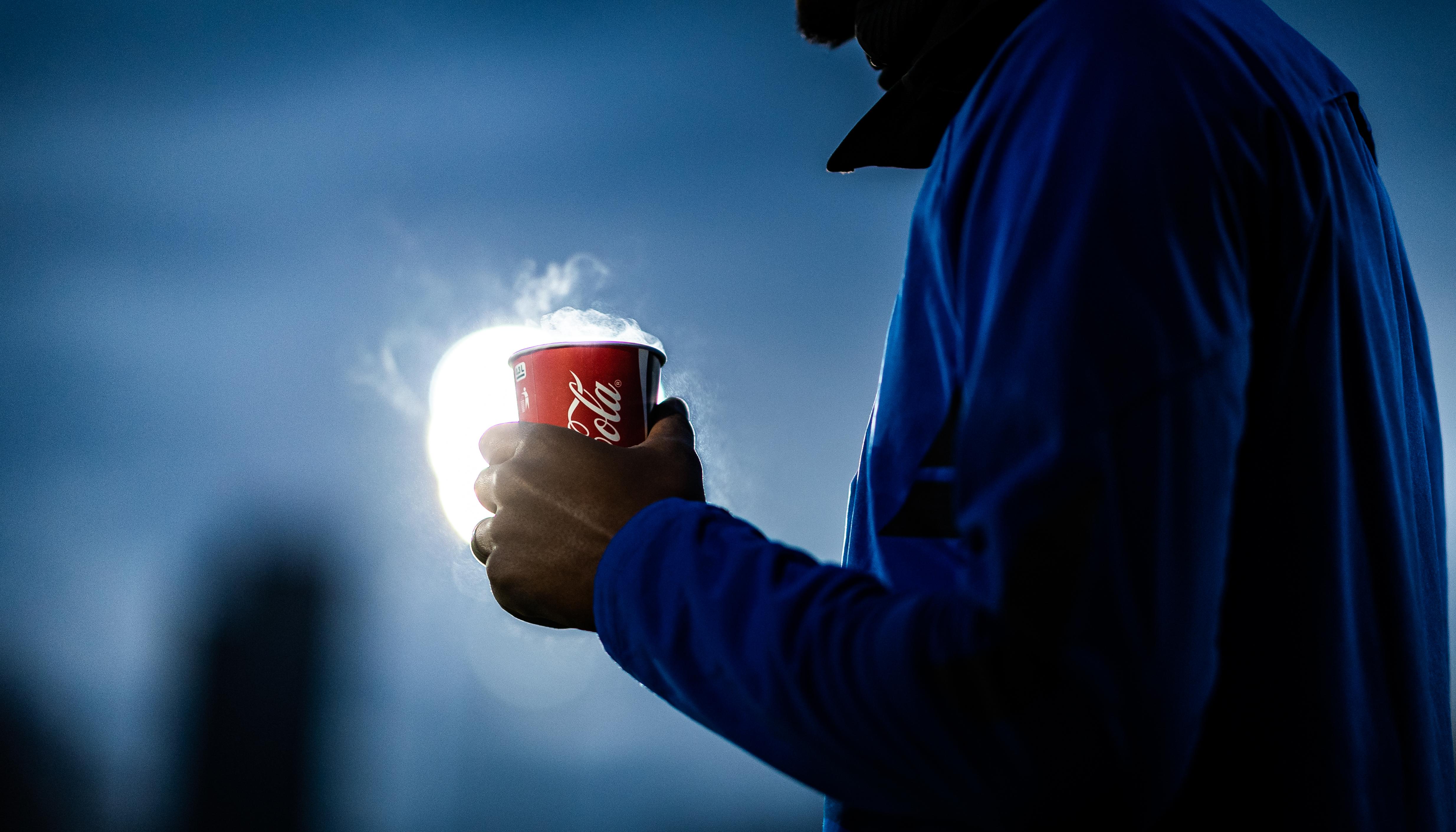 Ein Becher Coca-Cola