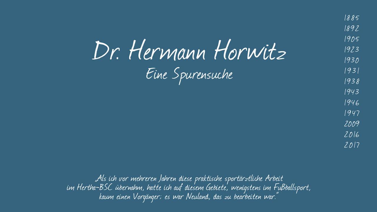 Resultate der Spurensuche - Dr. Hermann Horwitz