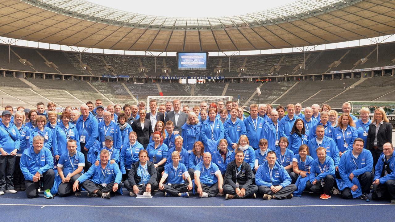 Werde Volunteer bei Hertha BSC!