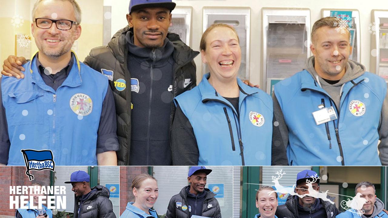 Herthaner helfen: Kalou besucht Bahnhofsmission am Ostbahnhof