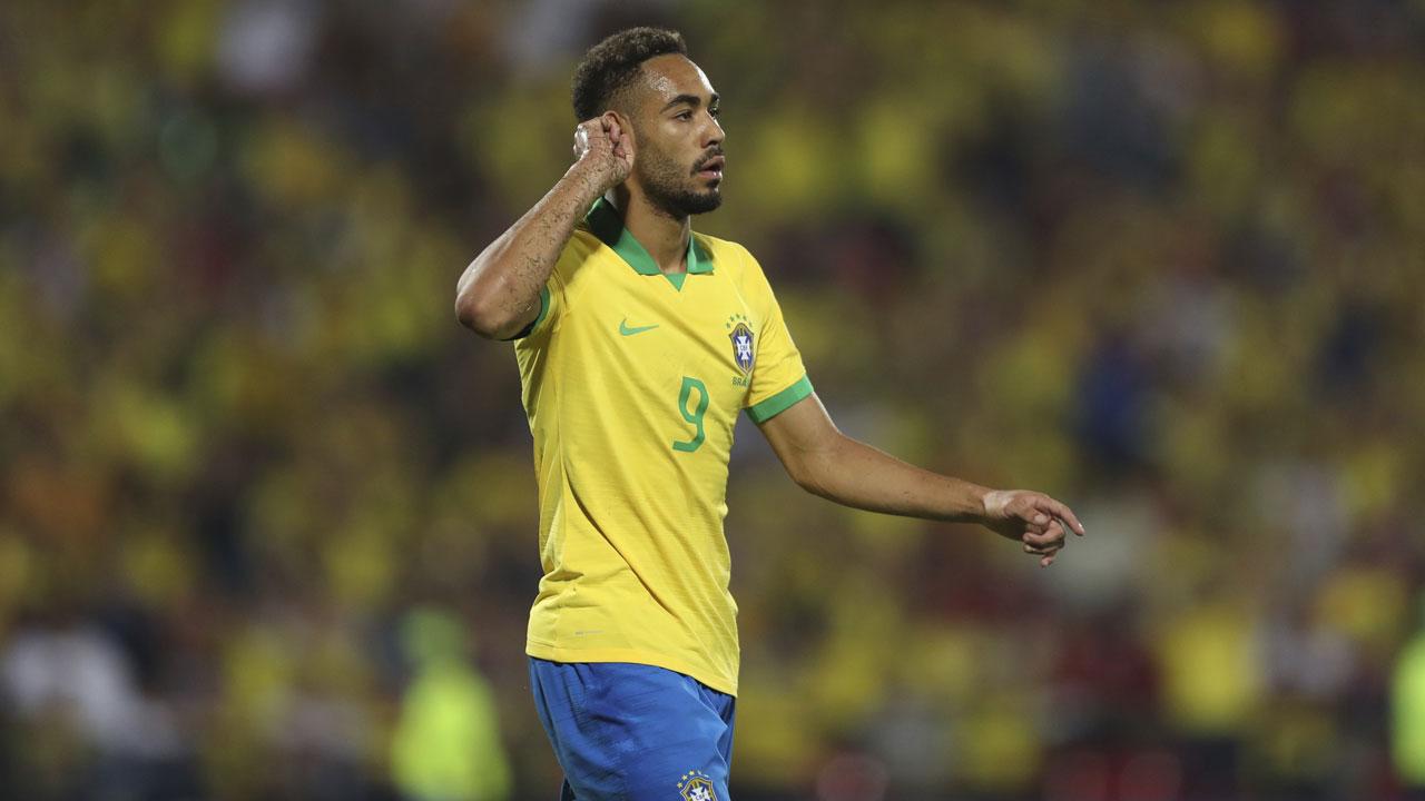 Matheus Cunha im Trikot der brasilianischen Nationalmannschaft.