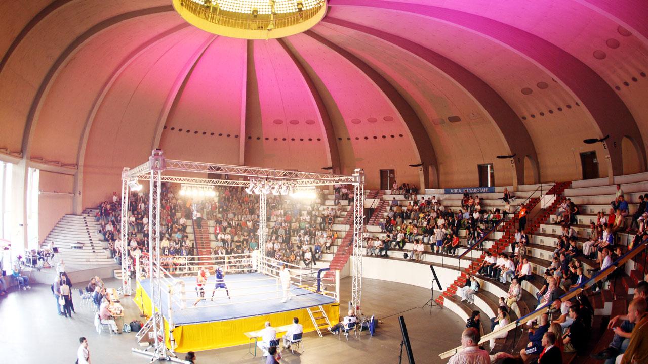 Box-Event im Olympiapark