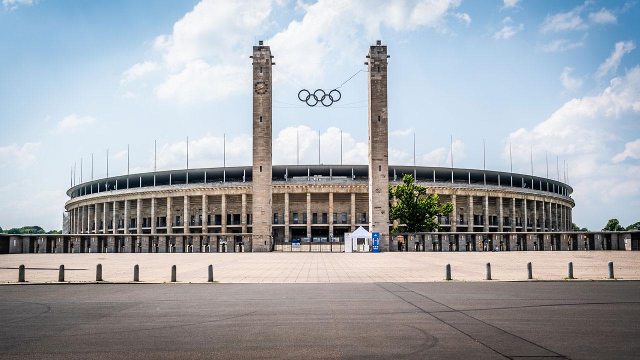 Außenansicht des Olympiastadions