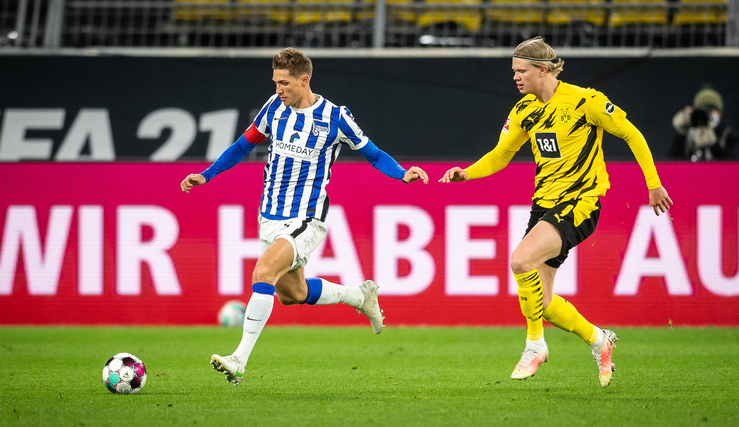 Niklas Stark contra Erling Haaland