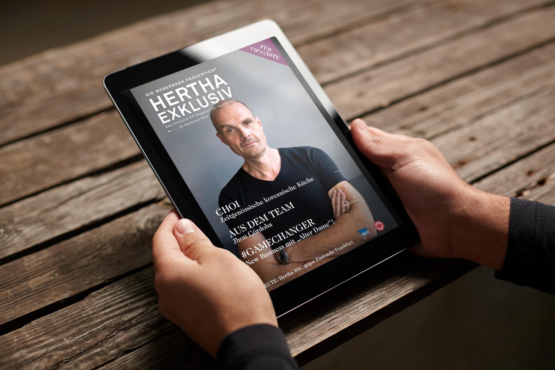 Header mit Hertha Exklusiv-Ausgabe