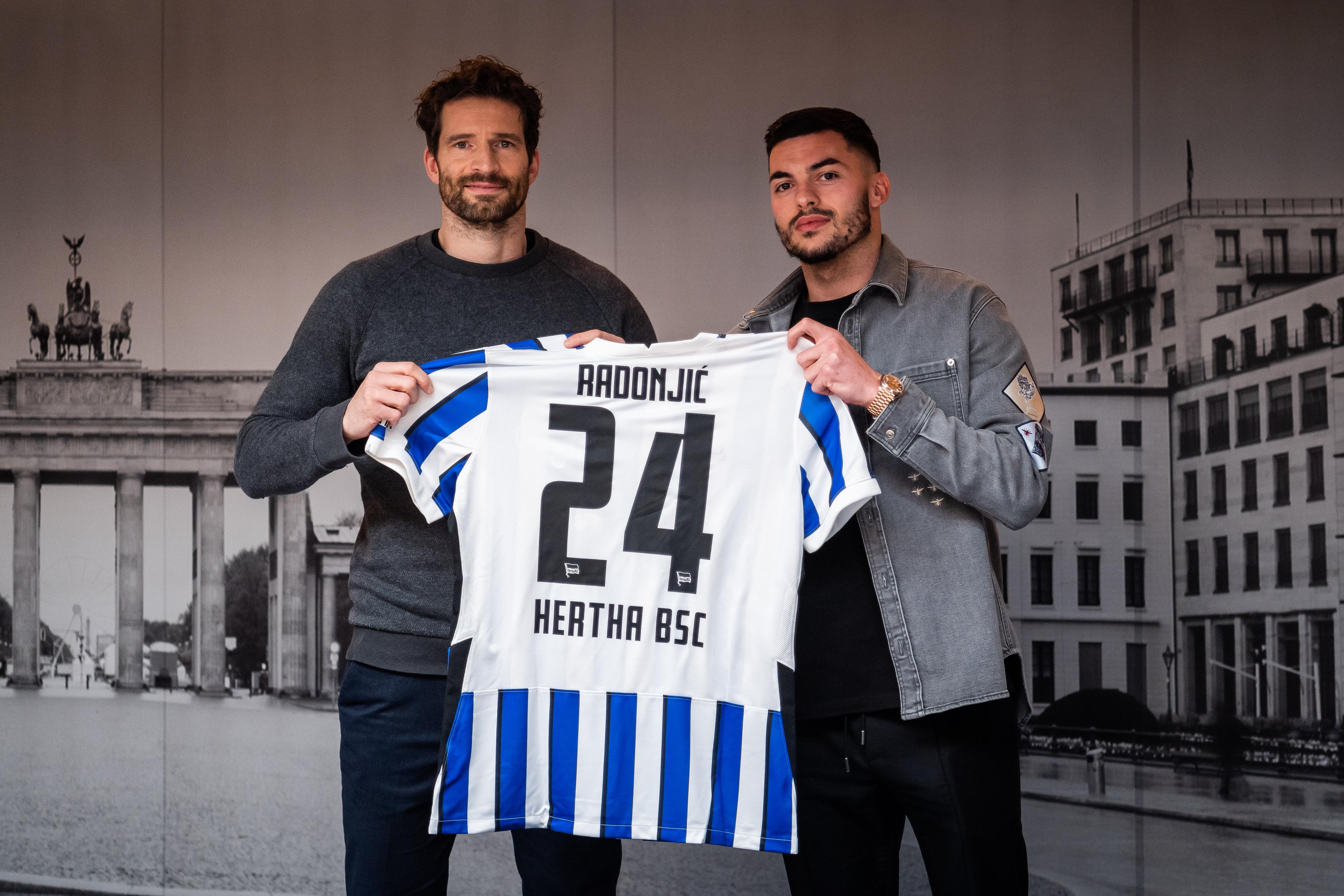 Hertha BSC leiht Nemanja Radonjić aus