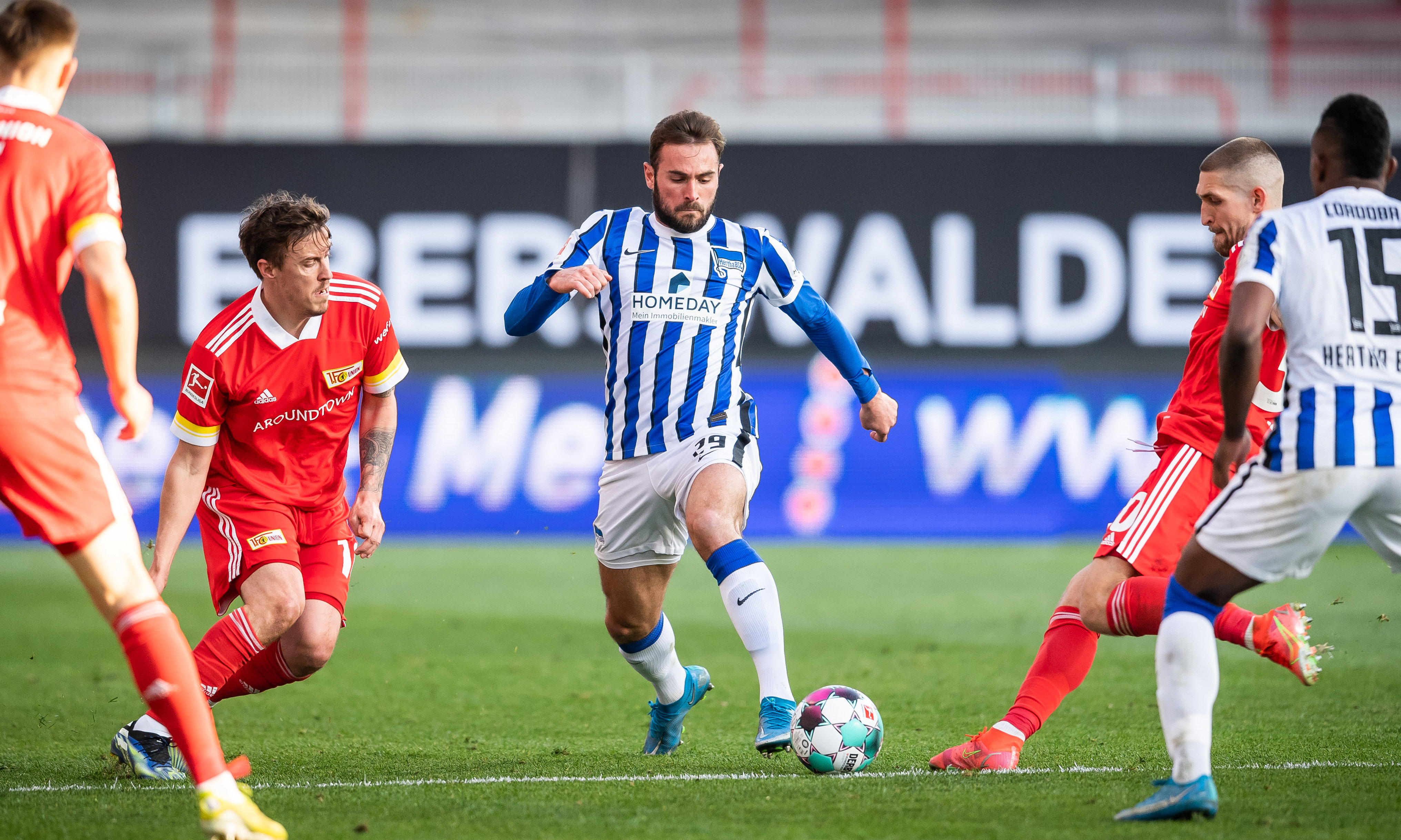 Lucas Tousart during the game against 1. FC Union