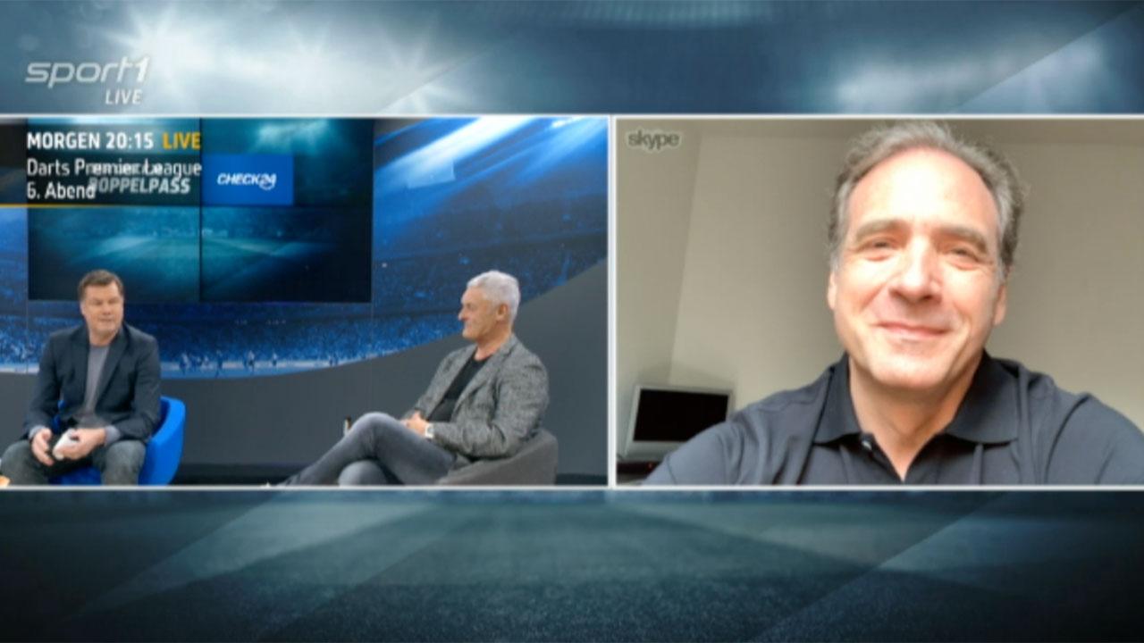 Carsten Schmidt virtuell zugeschaltet im 'Sport1-Doppelpass'.