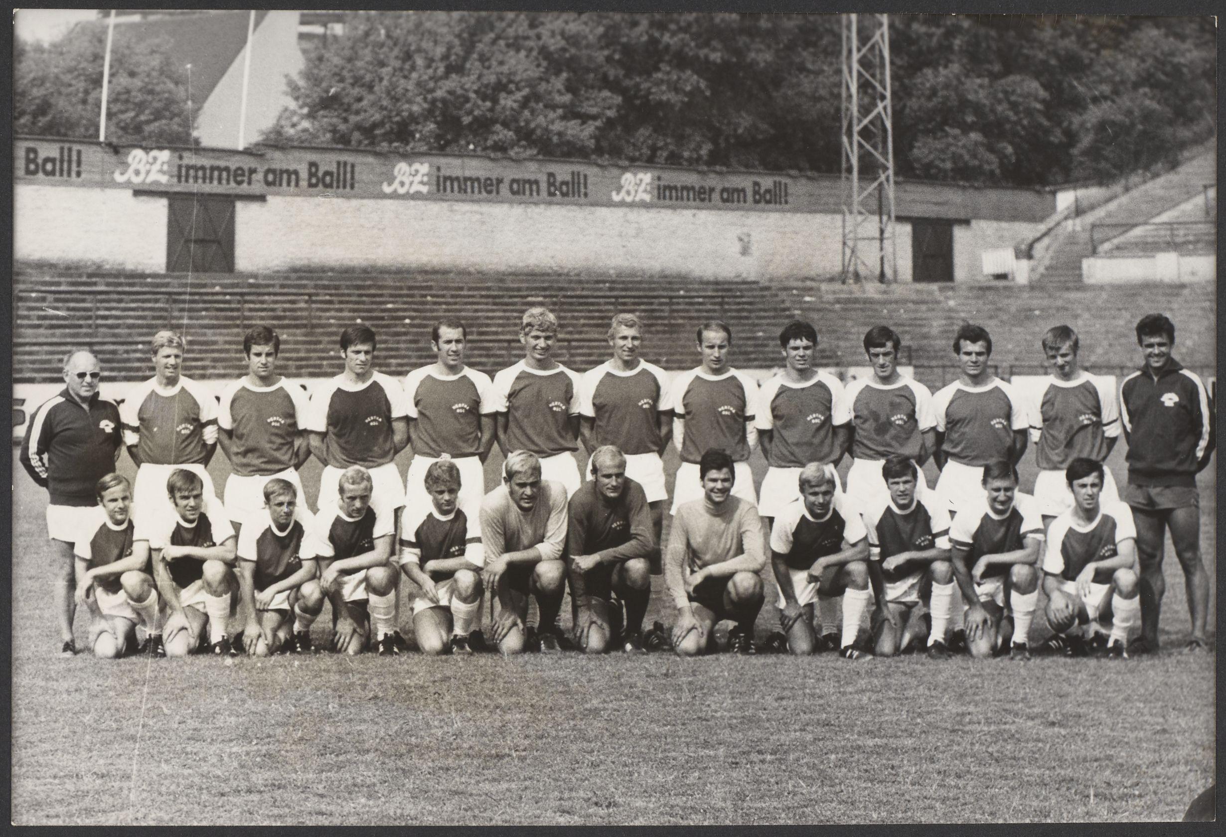 Mannschaftsfoto in der Saison 1969/70.