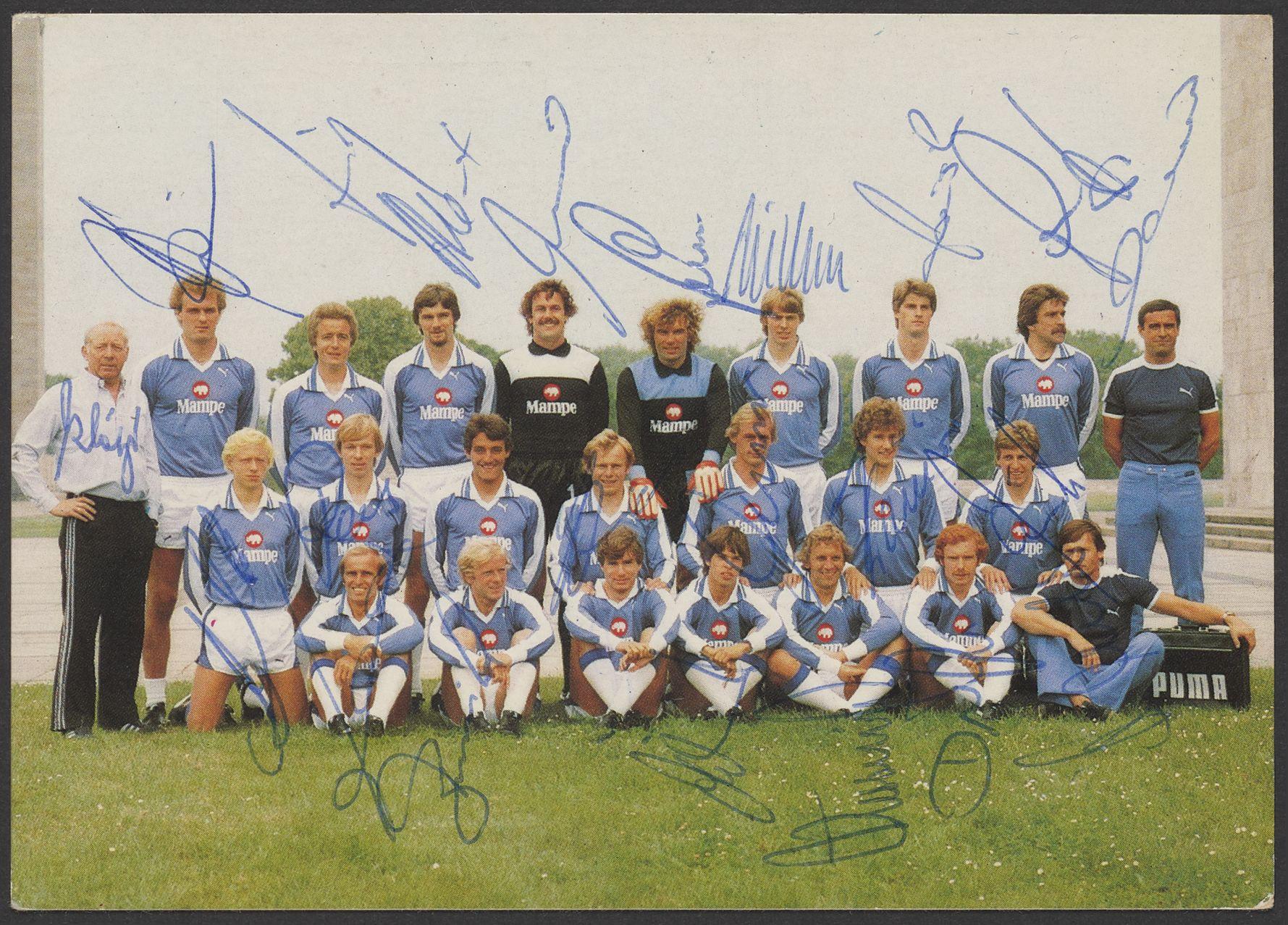 Mannschaftsfoto in der Saison 1978/79.