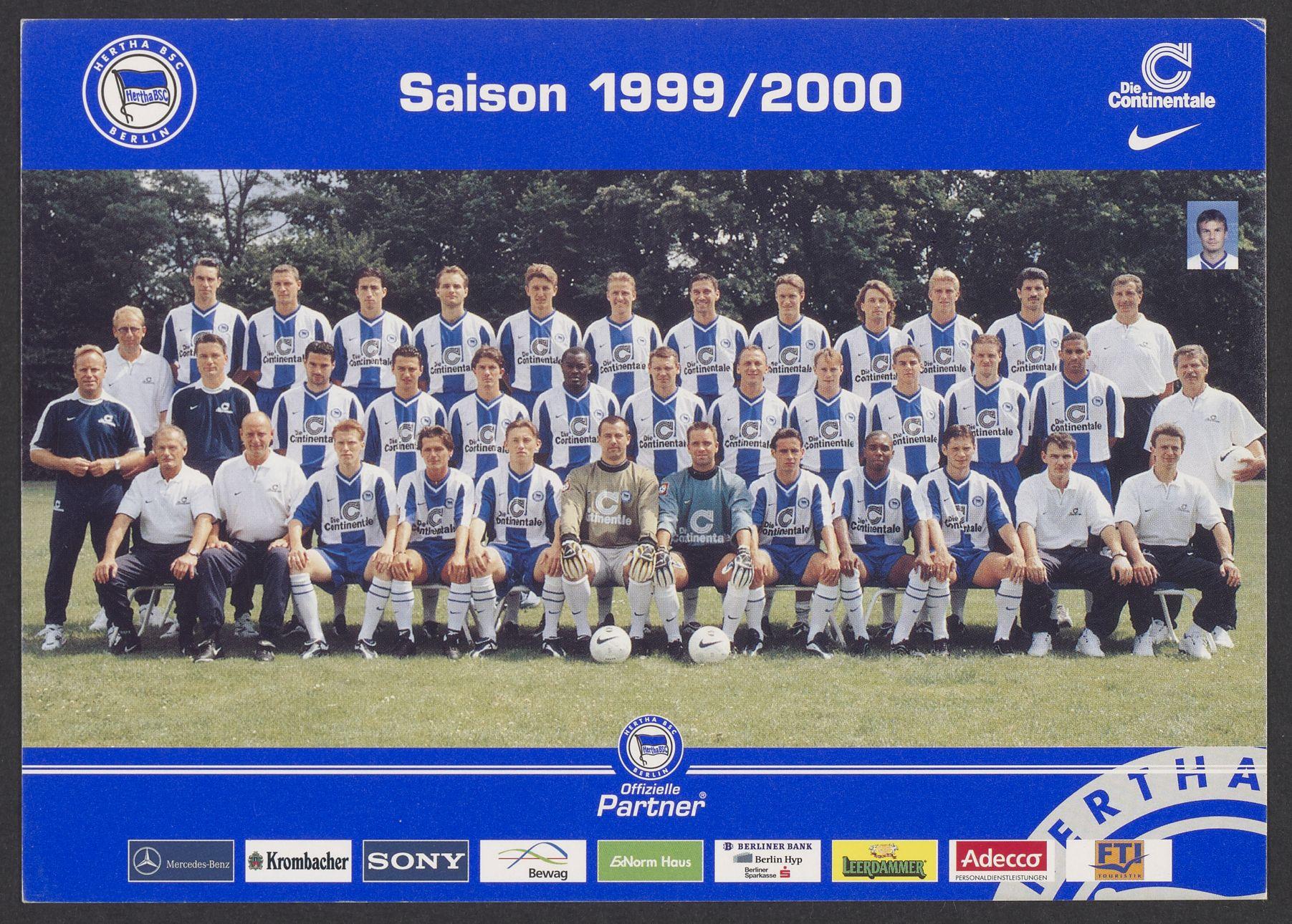 Mannschaftsfoto in der Saison 1999/2000.