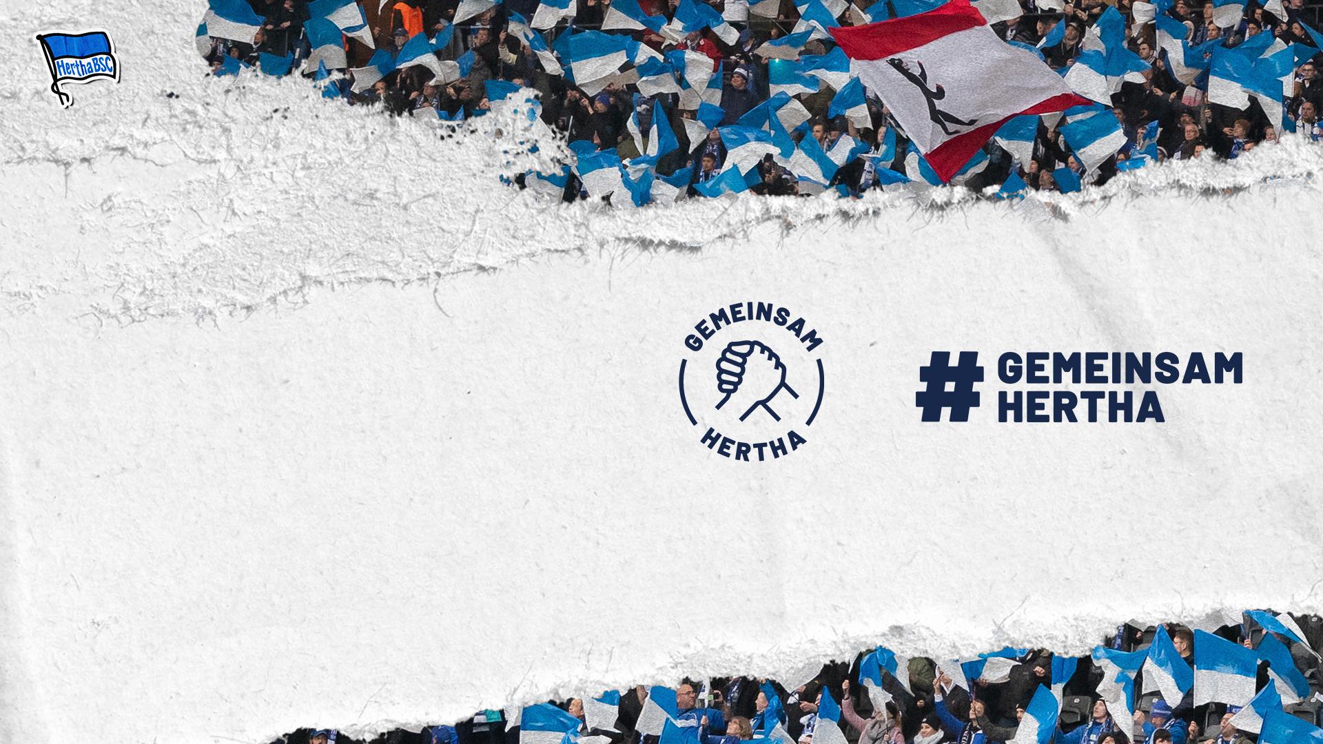 Logo und Hashtag zu Gemeinsam Hertha