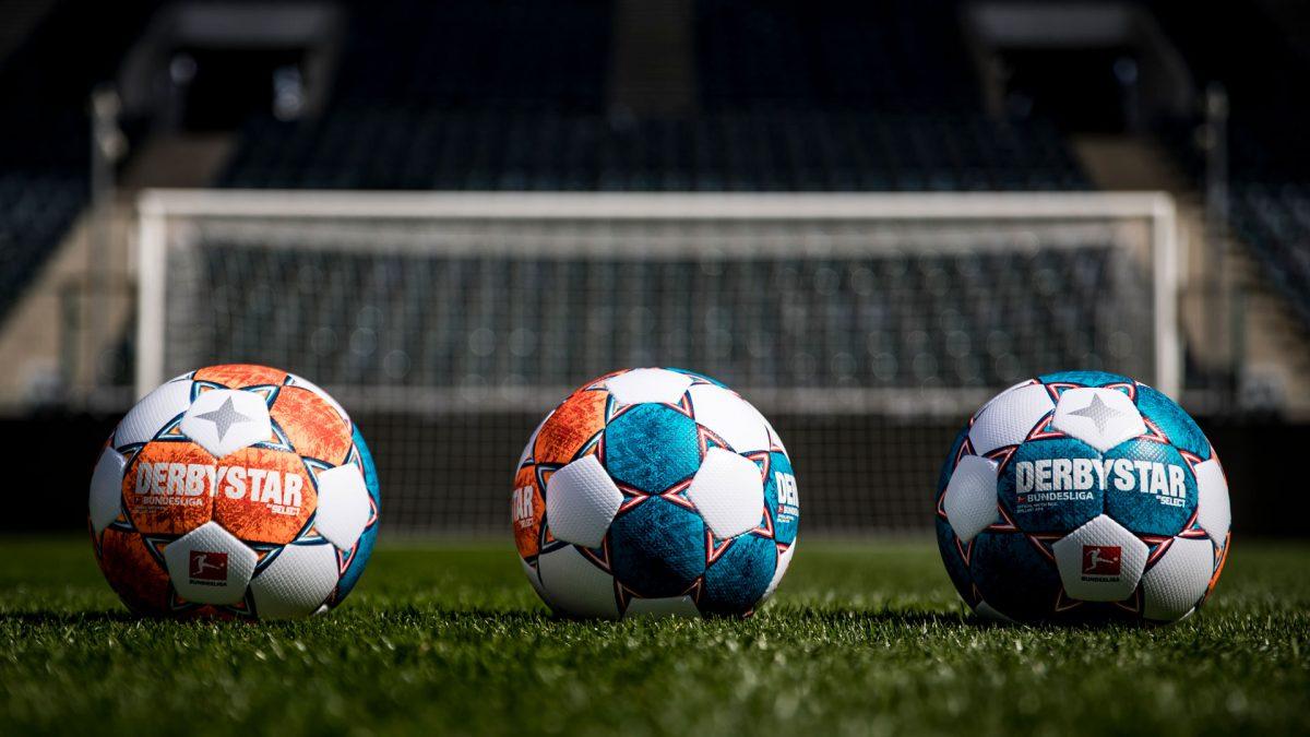 Der neue offizielle Bundesliga-Spielball von Derbystar von allen Seiten.