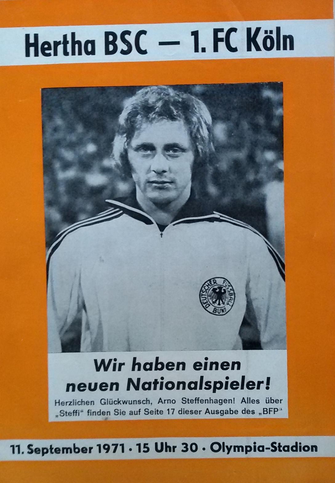 Ein Programmheft aus der Saison 1971/72.