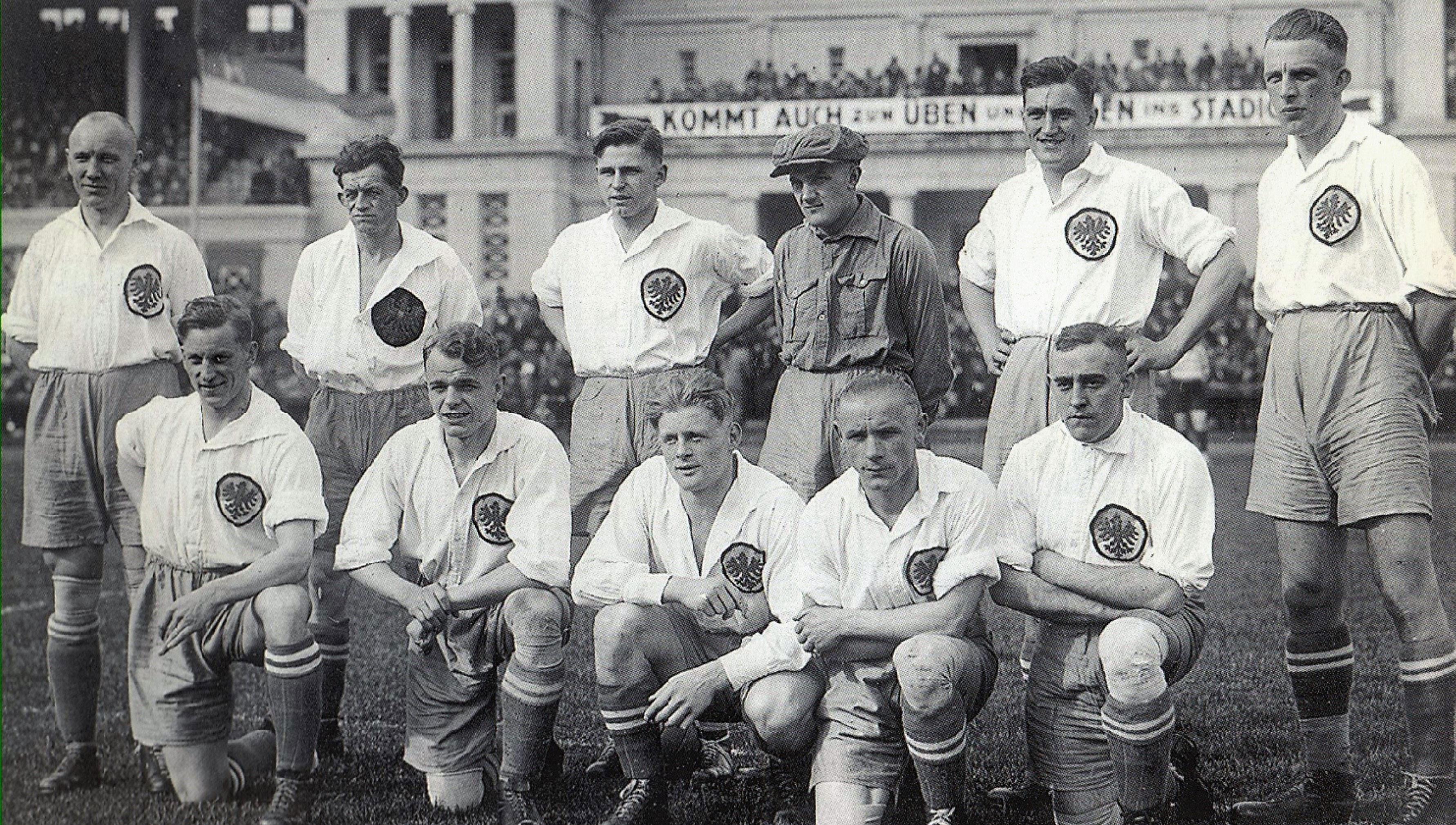 Die elf Herthaner fürs Endspiel 1926.