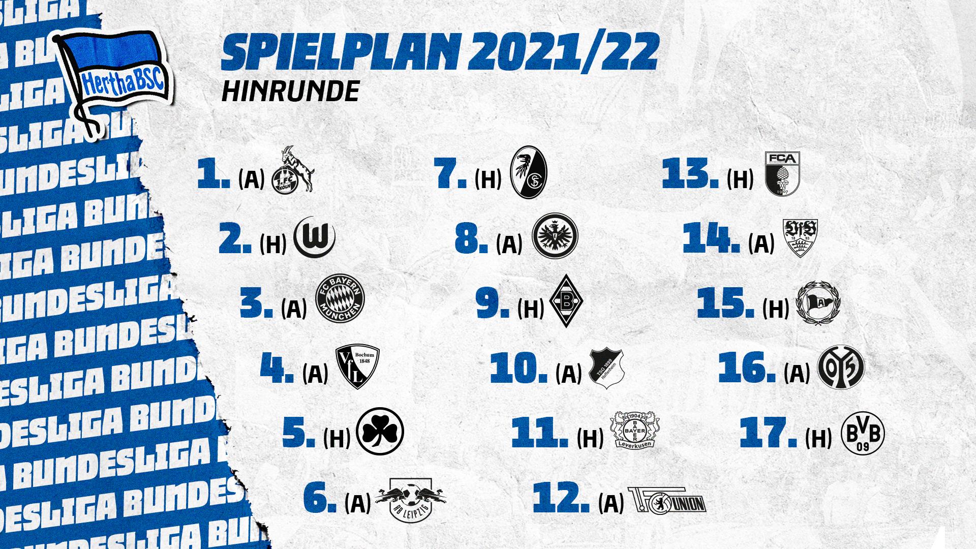 Der Spielplan für die kommende Saison in der Übersicht.