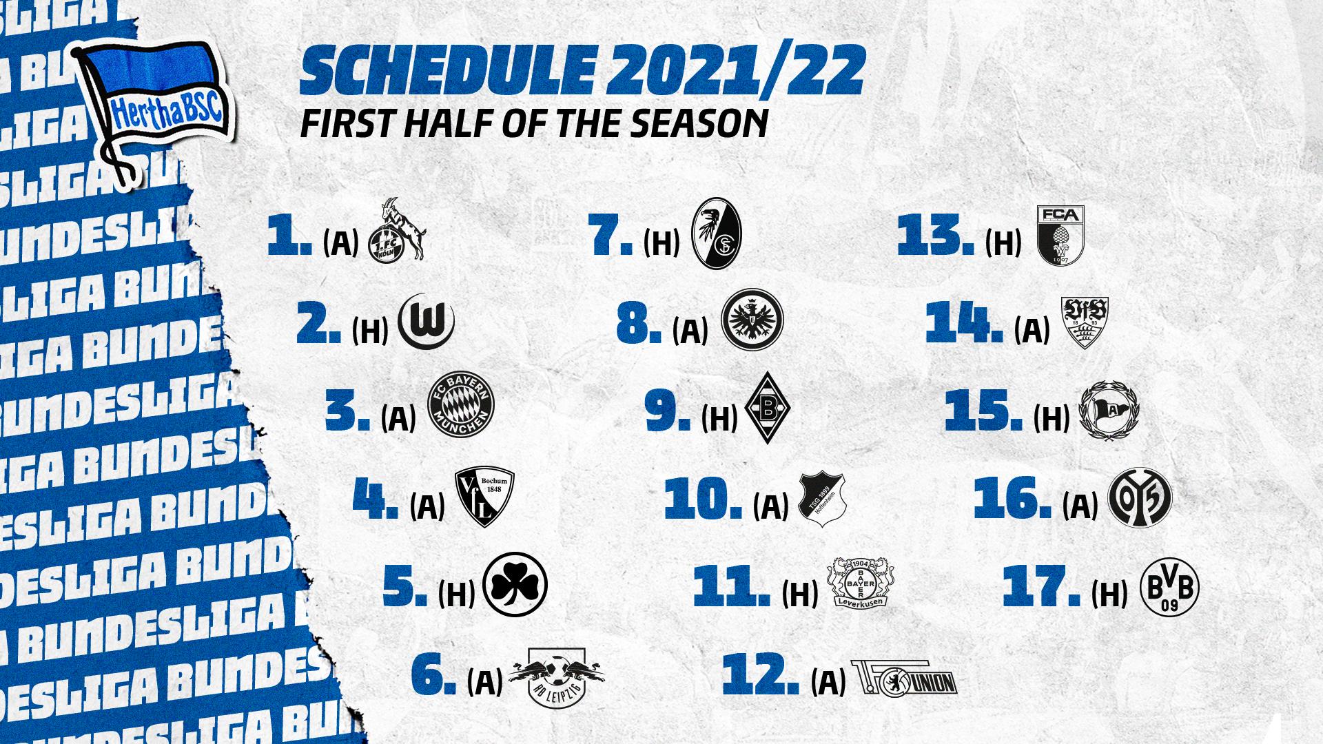 An overview of next season's fixtures.