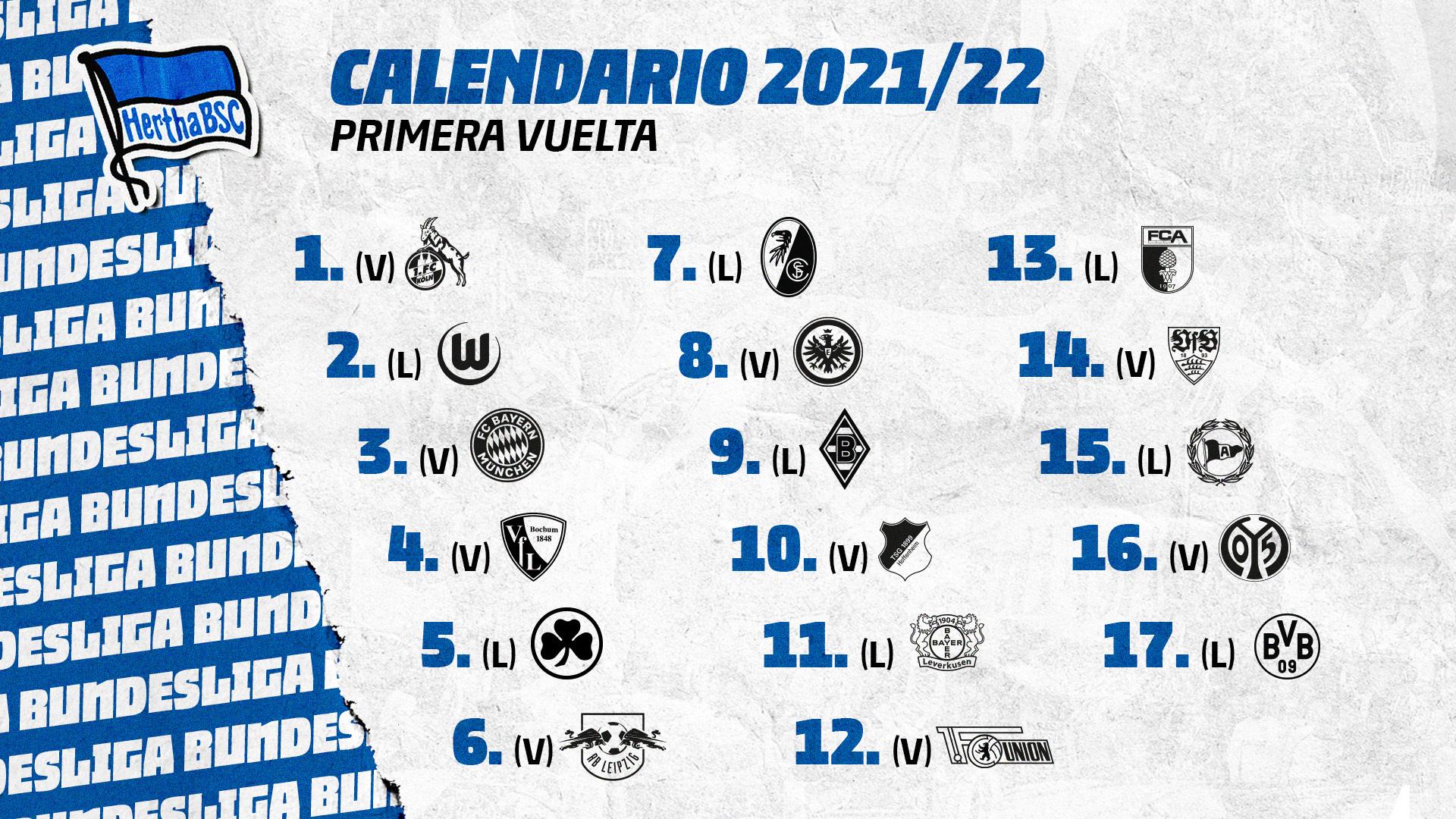 El calendario de la próxima temporada.
