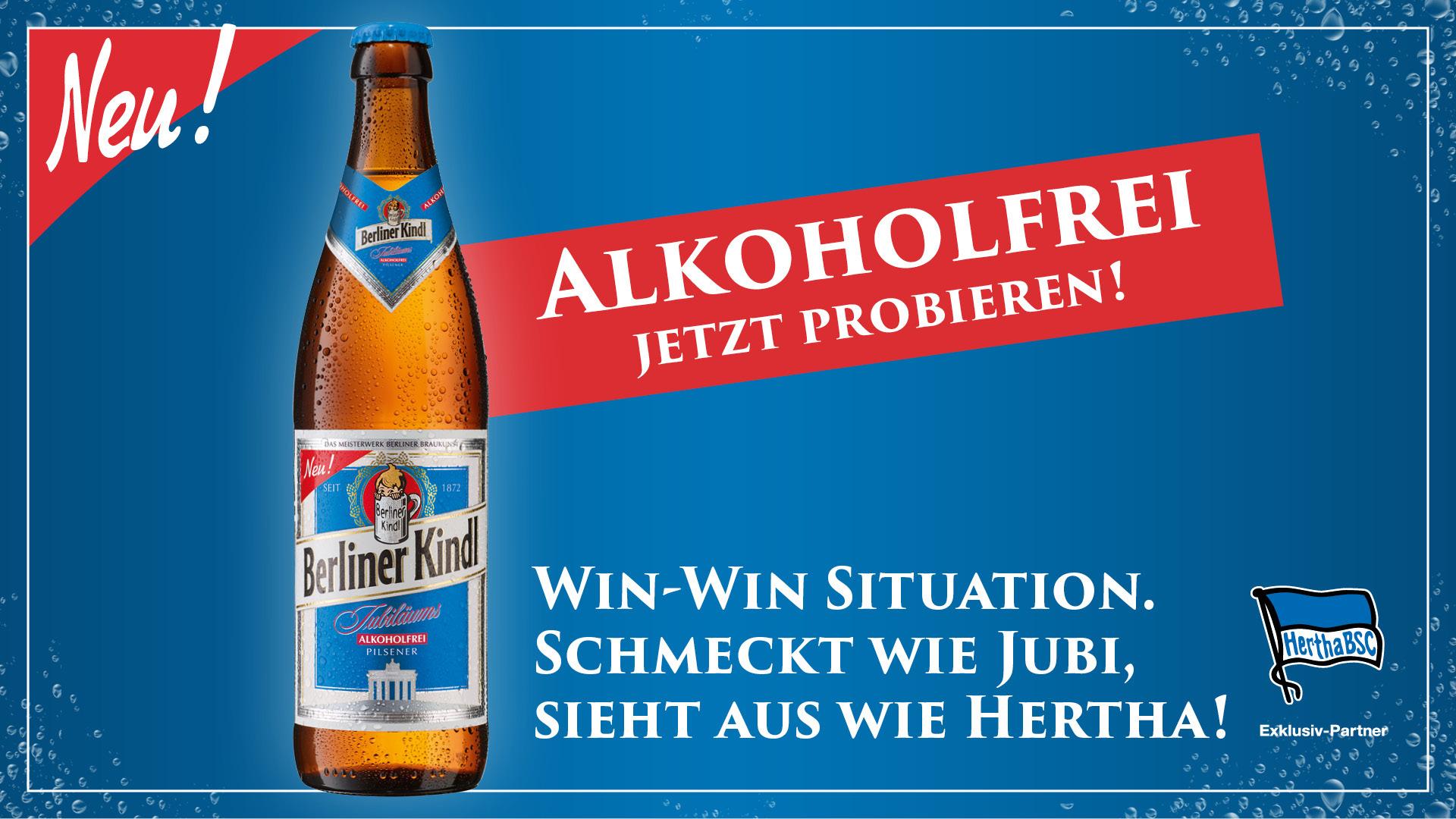 Das neue Berliner Kindl alkoholfrei - jetzt probieren.
