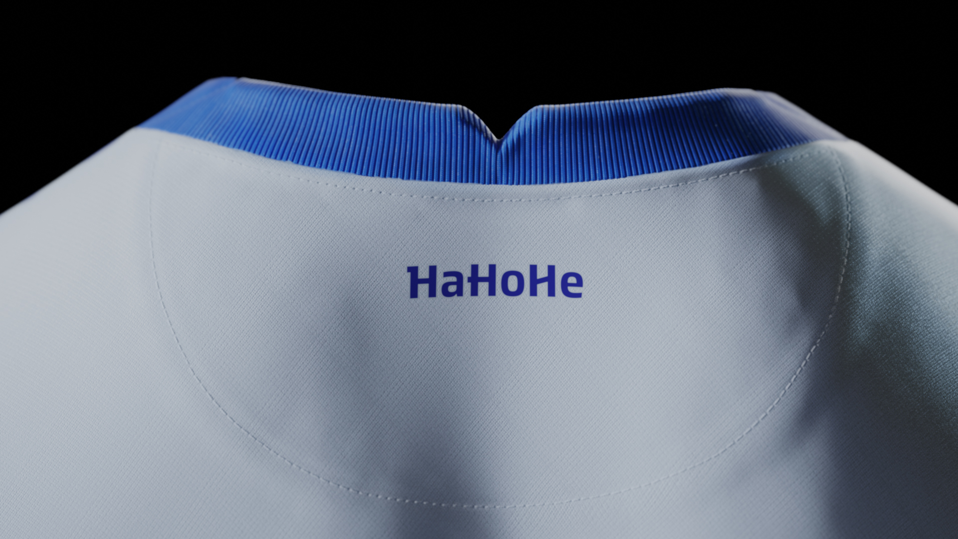 Our slogan 'HaHoHe' on the inside of the collar.