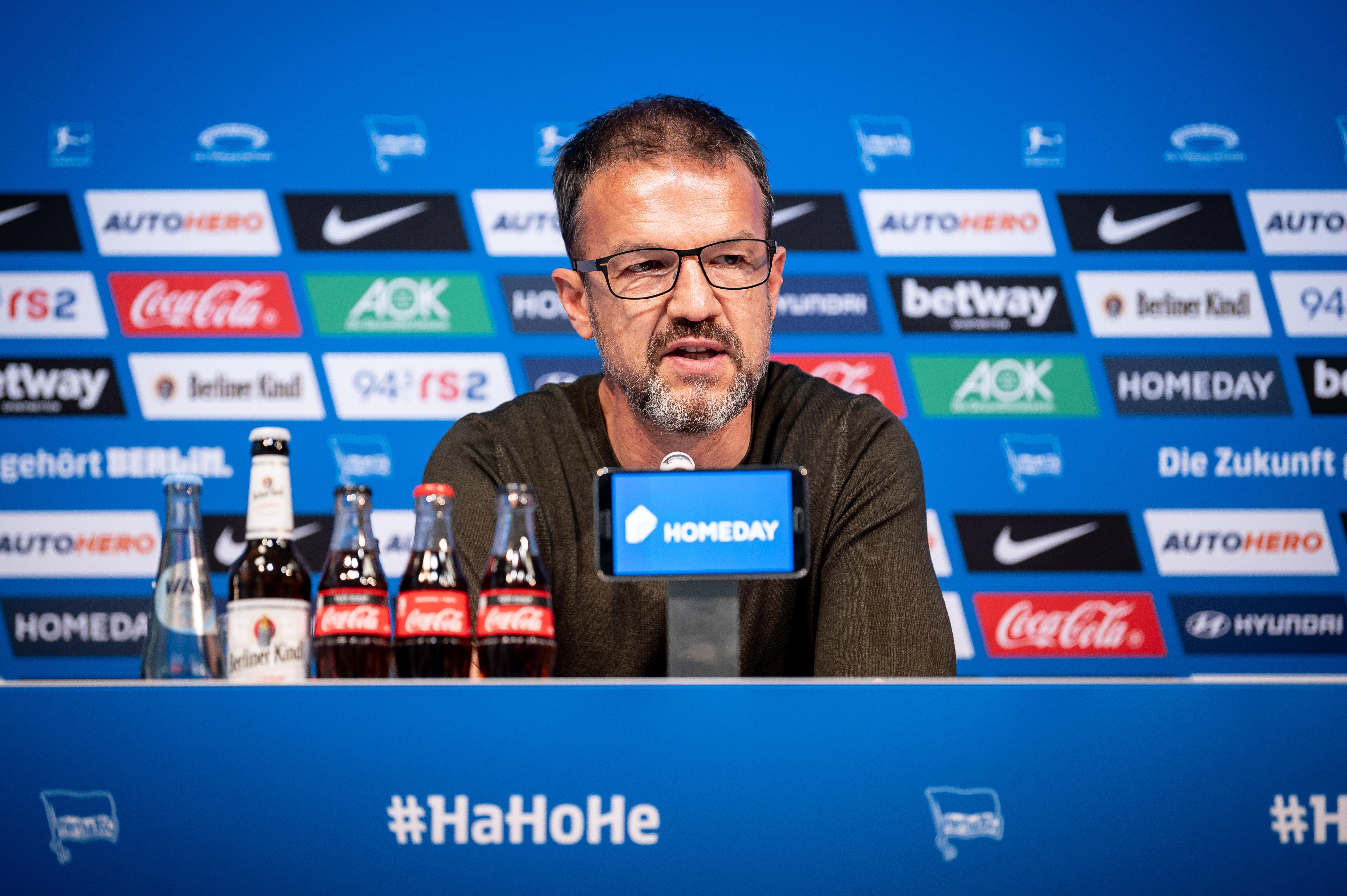 Fredi Bobic at the press conference.
