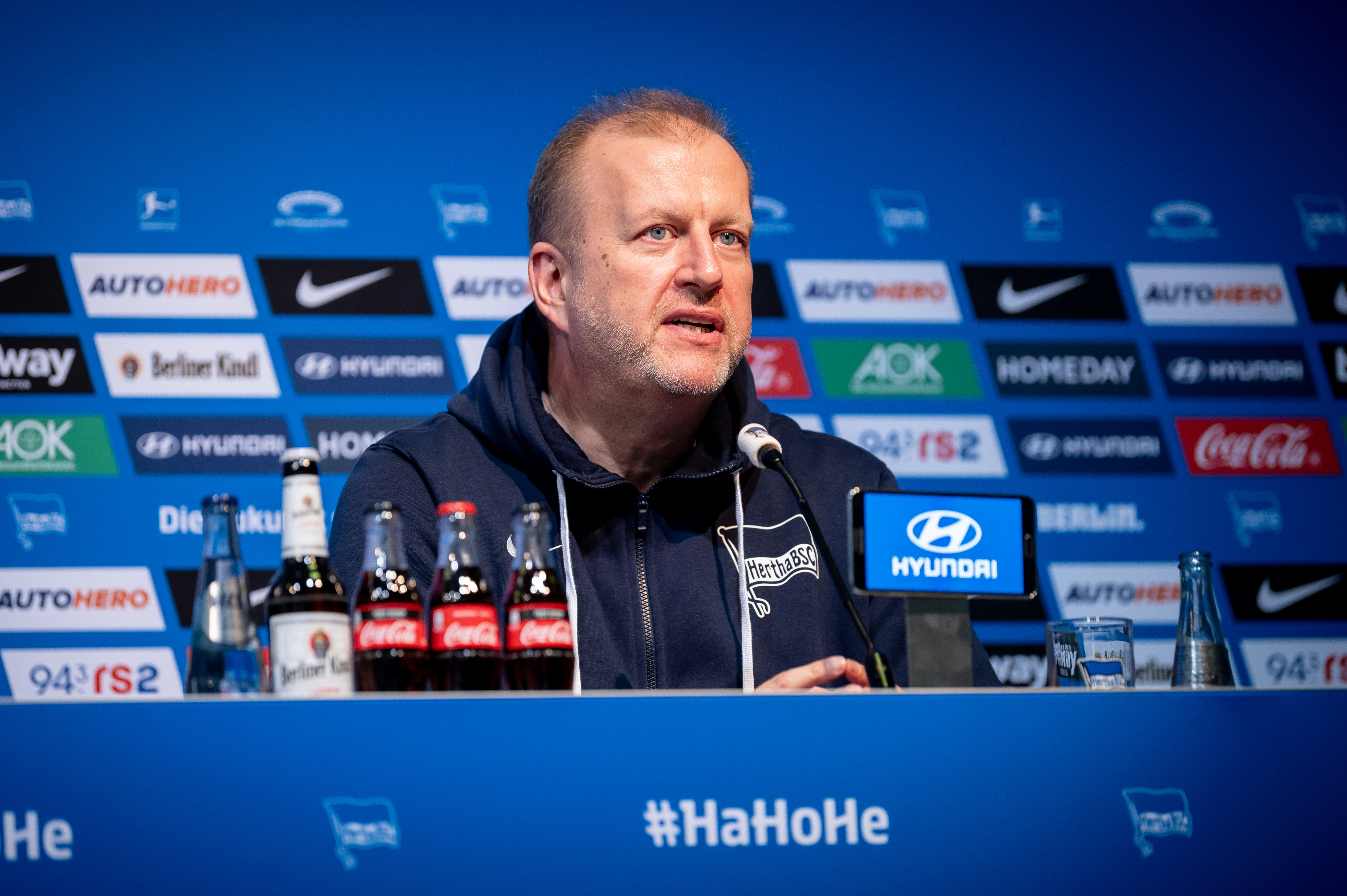 Ingo Schiller at the press conference.