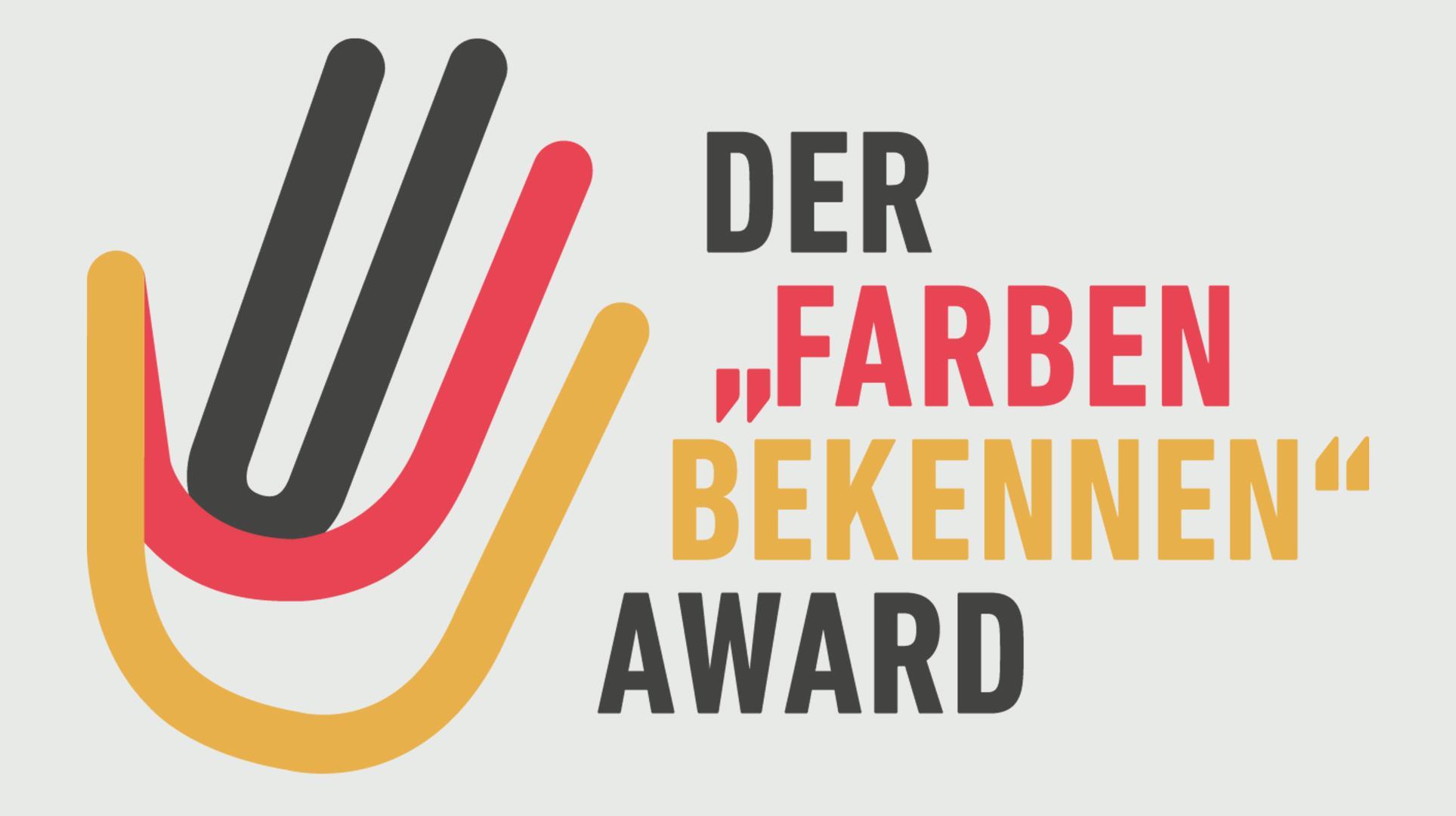Das Logo des #FARBENBEKENNEN-Awards.