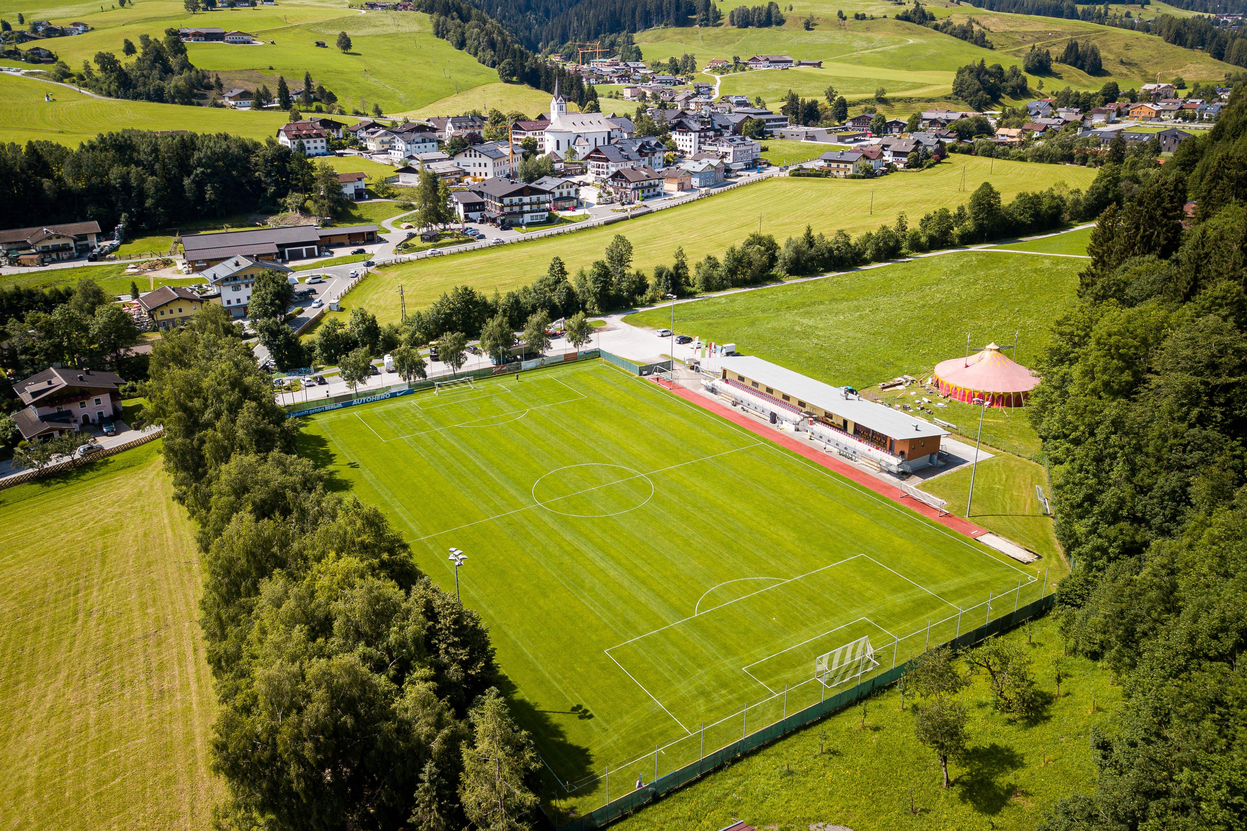 El campo de entrenamiento desde el aire