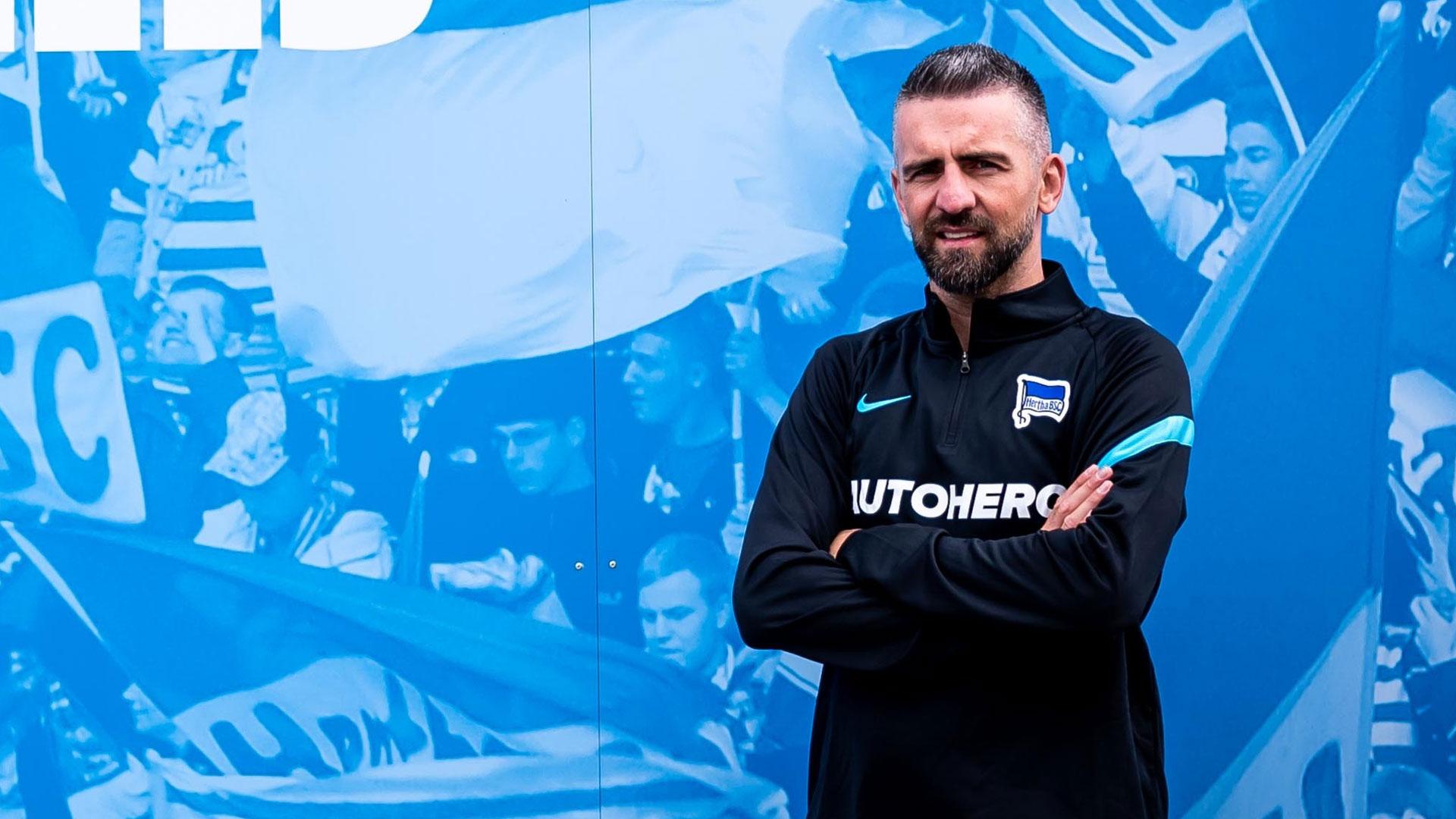 Vedad Ibišević auf dem Olympiagelände.