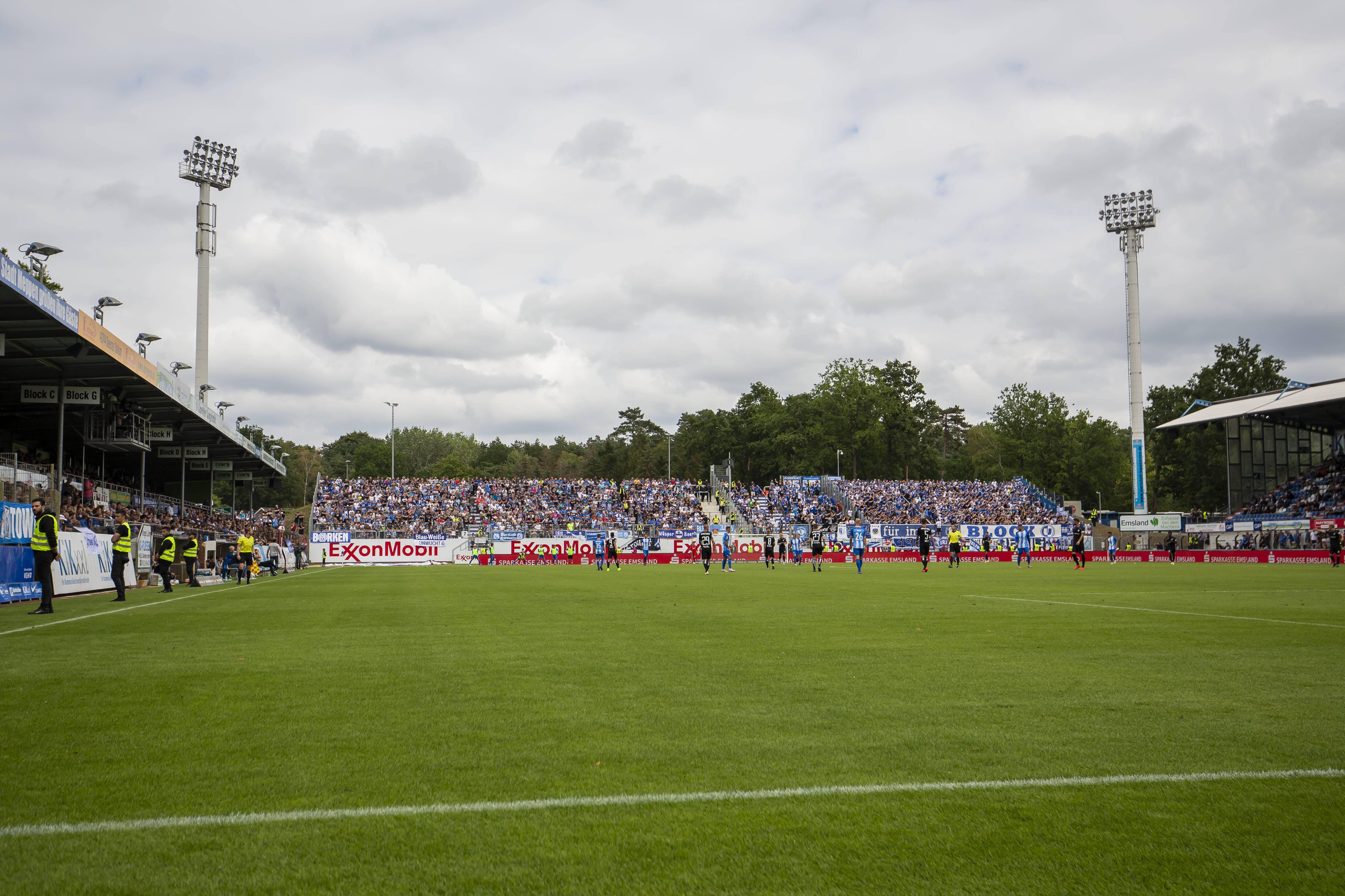 Das Stadion in Meppen.