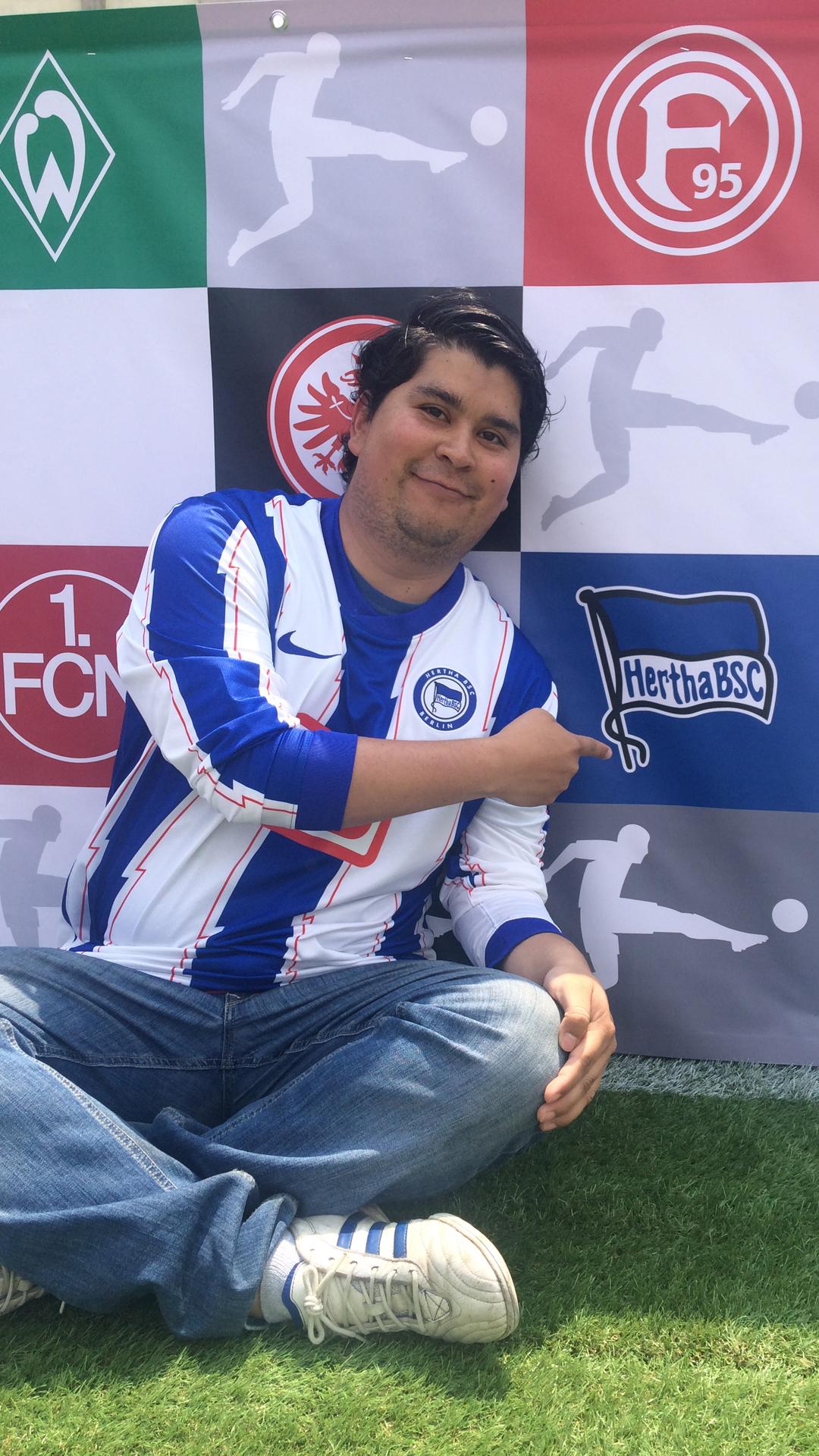 Gustavo René Pineda Godoy bei einem Bundesliga-Event in Mexiko-Stadt.