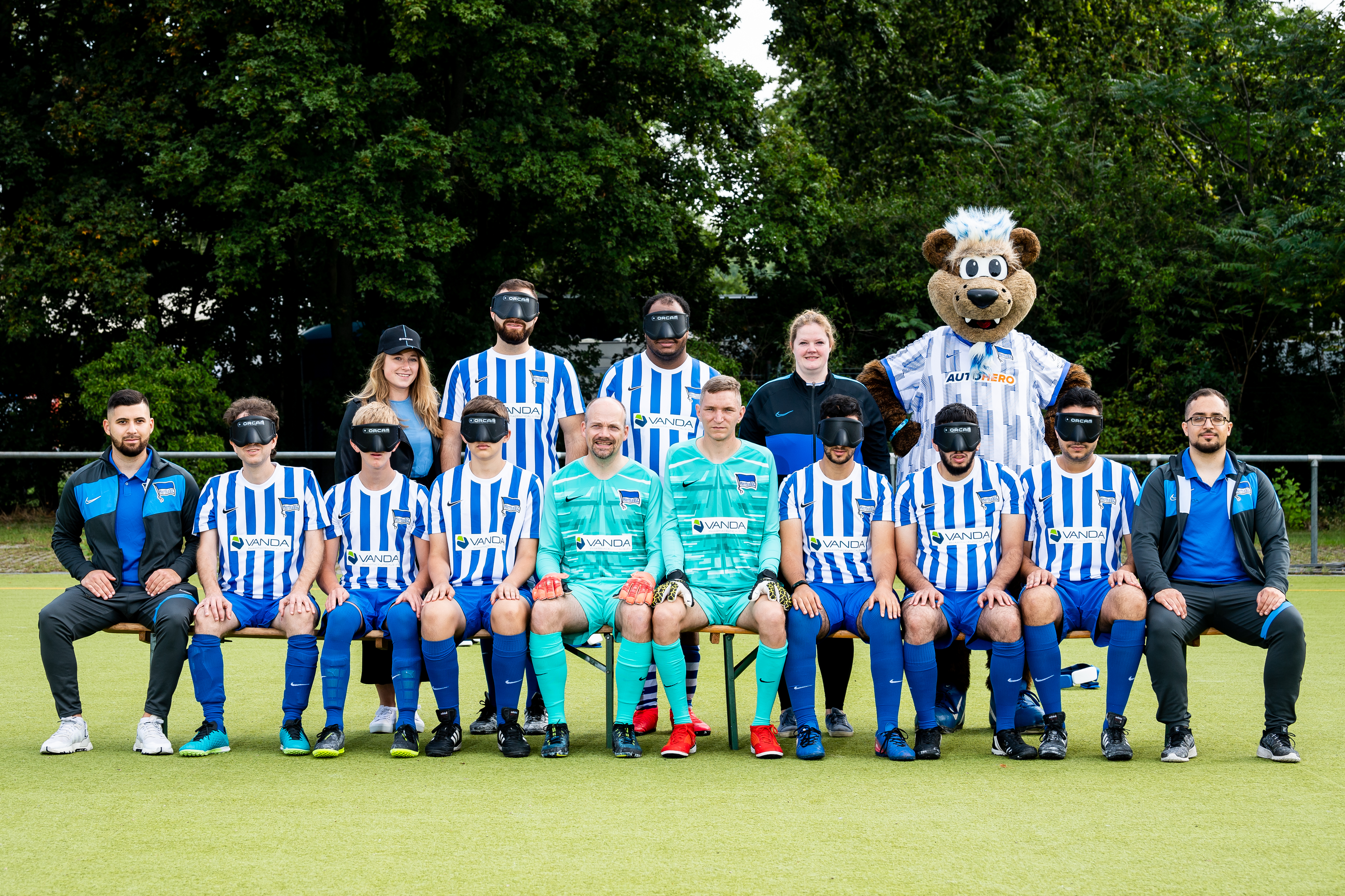 Unsere Blindenfußball-Mannschaft für die Saison 2021/22.