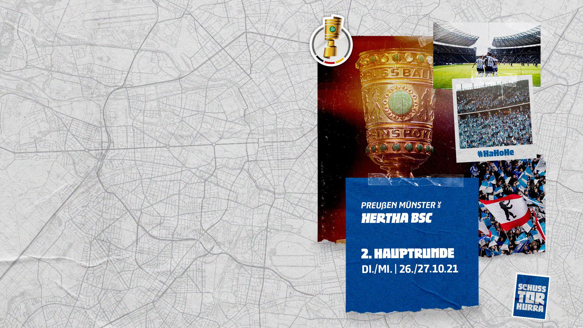 Pokalgrafik Preußen Münster Hertha BSC.