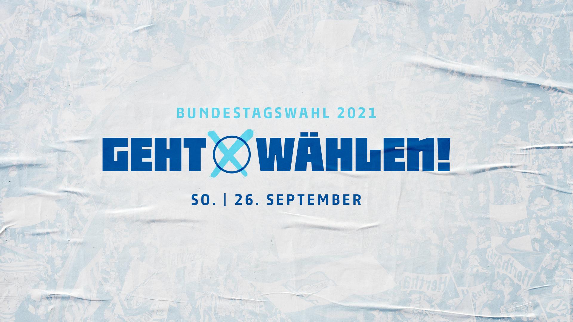 Grafik zum Wahlaufruf für die Bundestagswahl 2021.