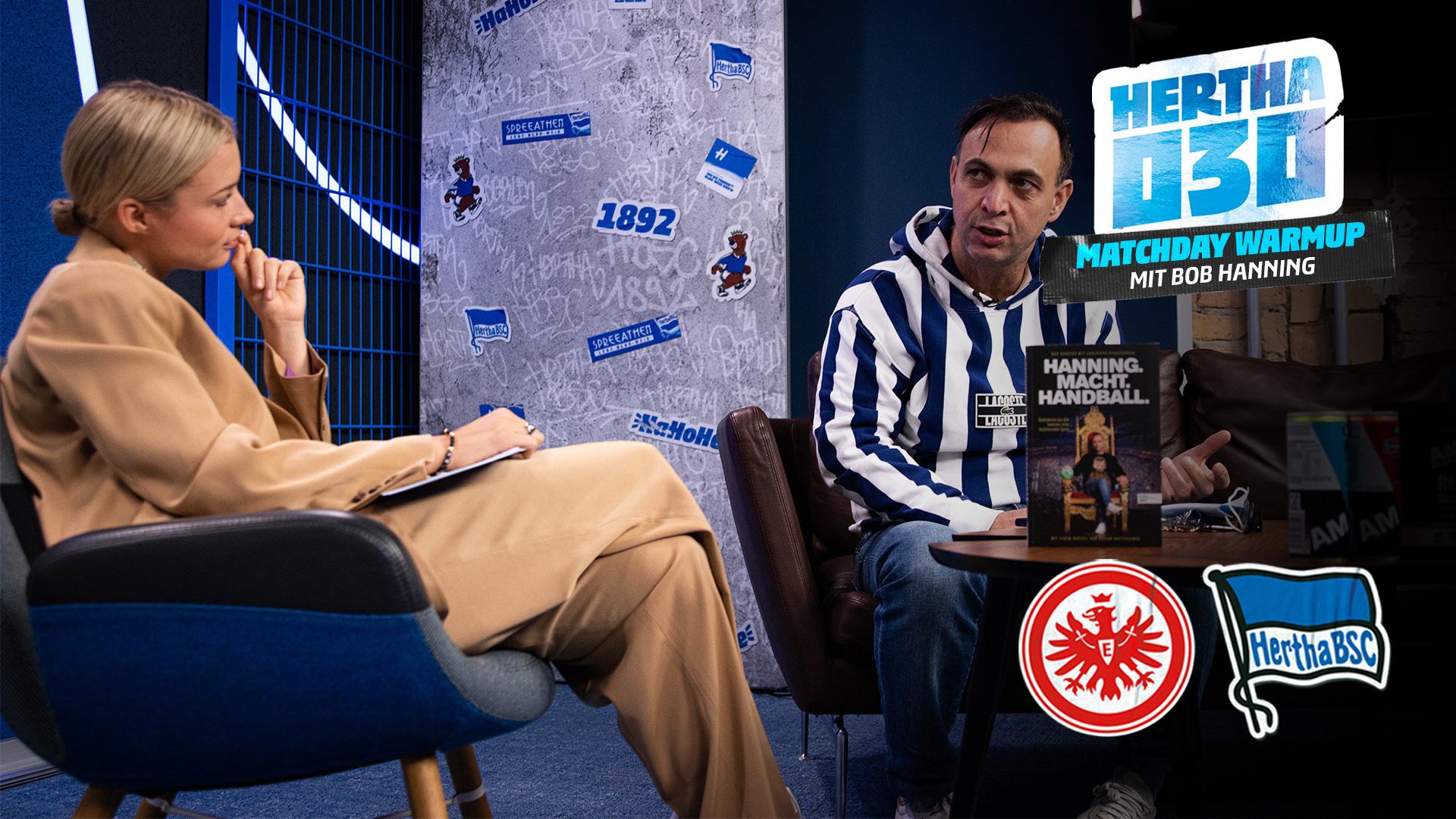 Lena spricht bei der 'Hertha030 - Matchday Warmup'-Show mit Bob Hanning.
