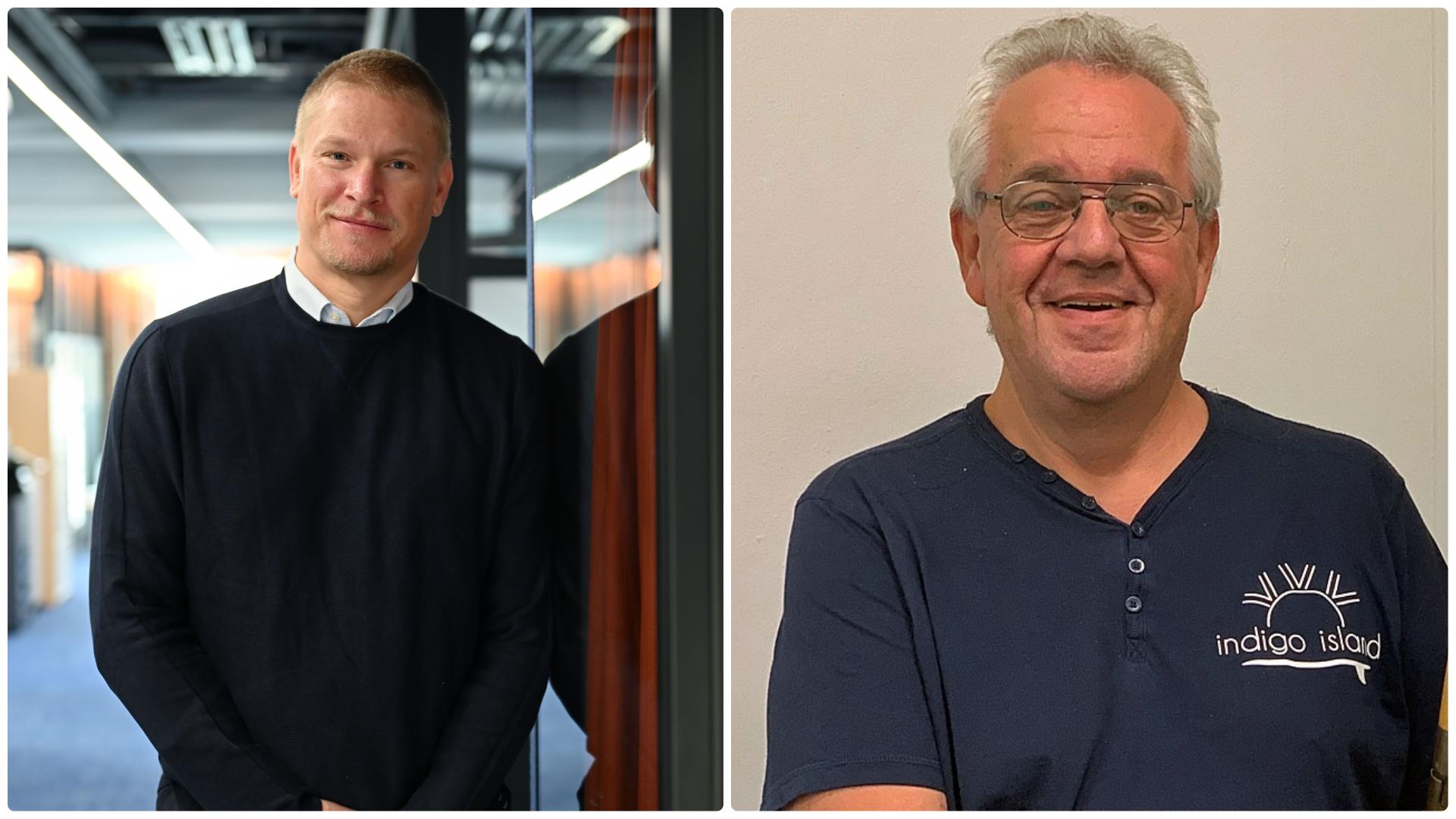 Die beiden Jubilare: Paul Keuter und Manfred 'Manne' Sangel.