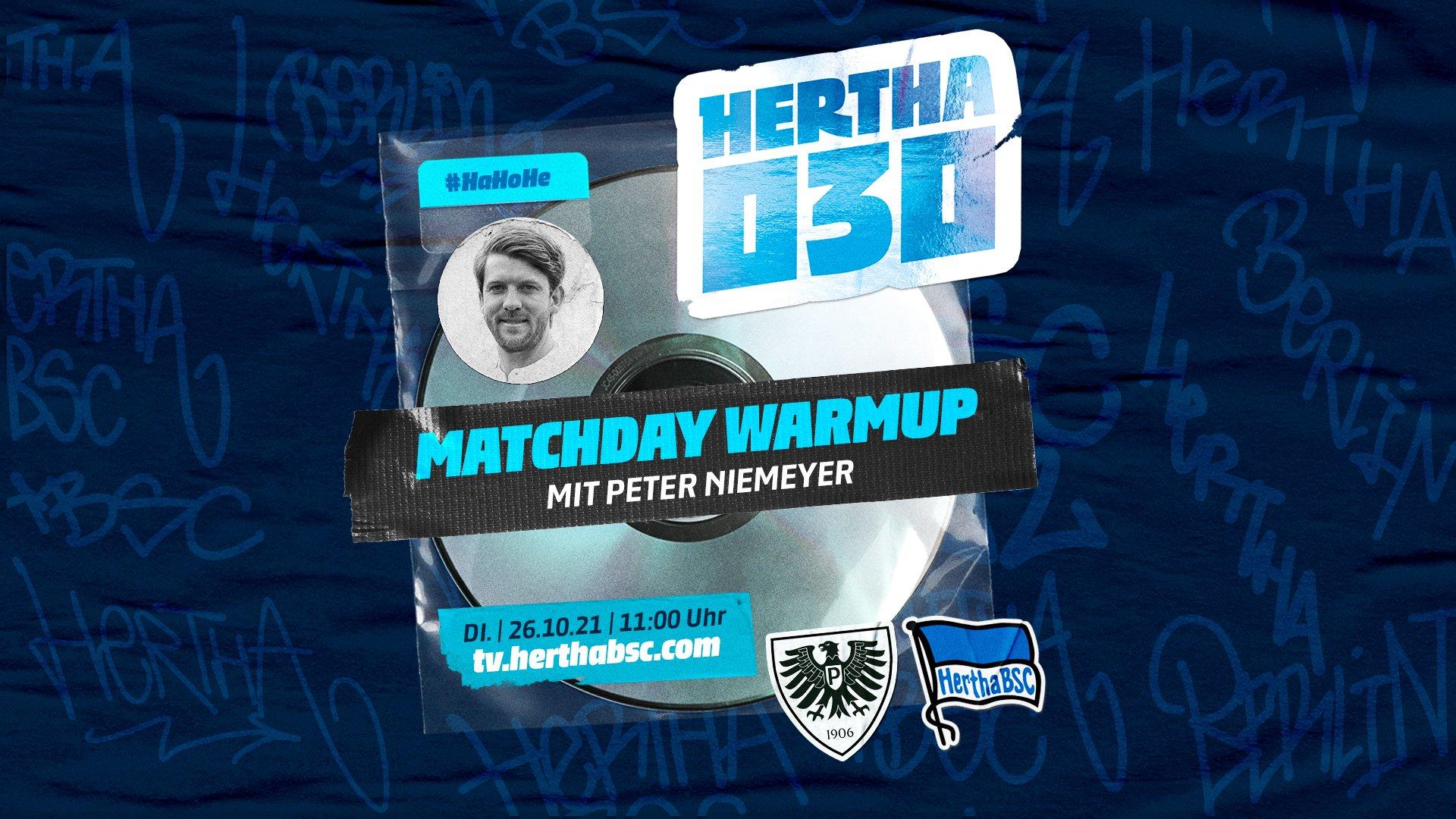 Lena spricht bei der 'Hertha030 - Matchday Warmup'-Show mit Peter Niemeyer
